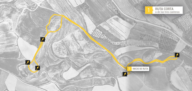 Mapa Ruta Corta o de las 3 canteras